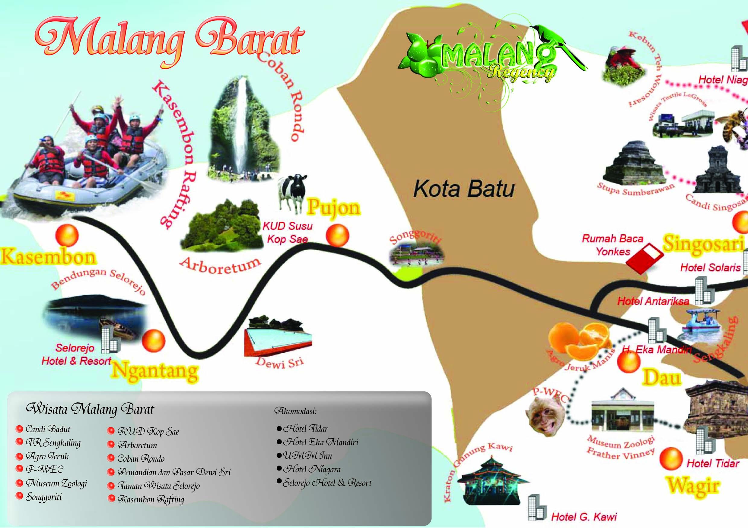 Peta Wisata by Dinas Kebudayaan dan Pariwisata kabupaten Malang